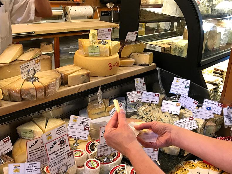 Cheese tasting.
