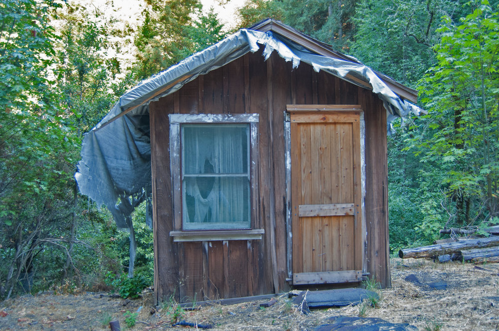 One of the cabins of the Pourroy Ranch.