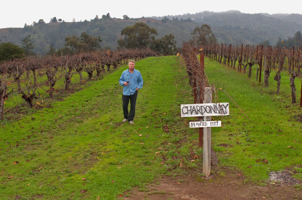 Mike in the Chardonnay vineyard