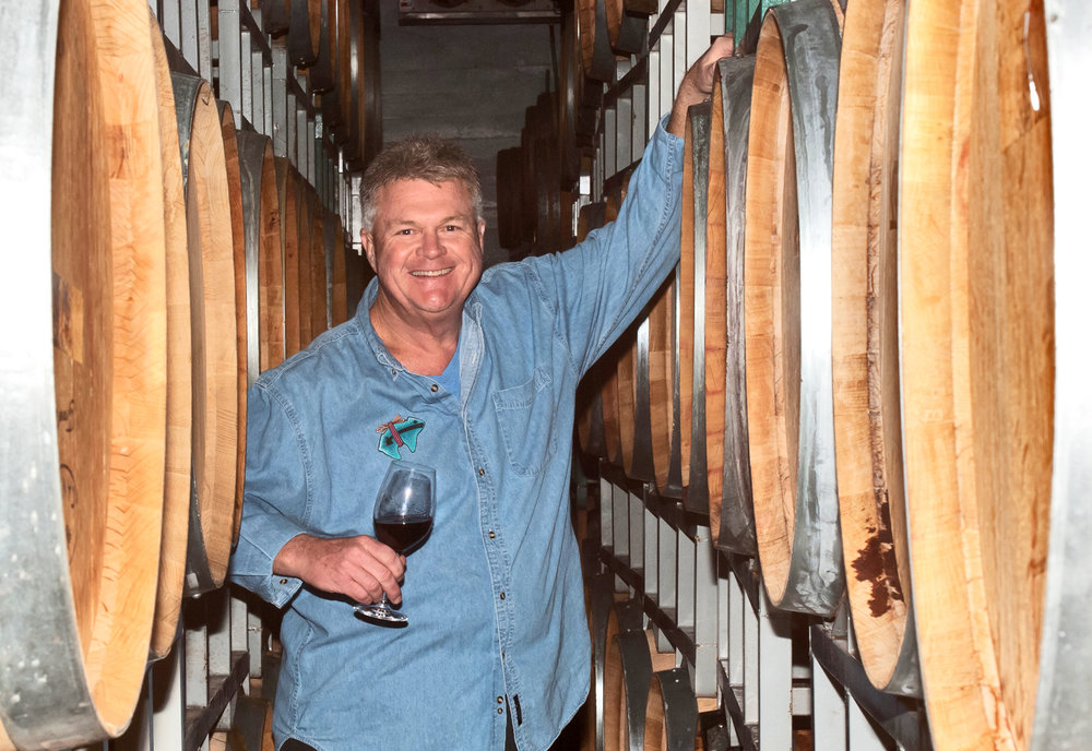 Mike, in the barrels. Cheers!