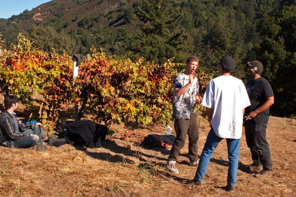 Sav Chan enjoy in vineyard