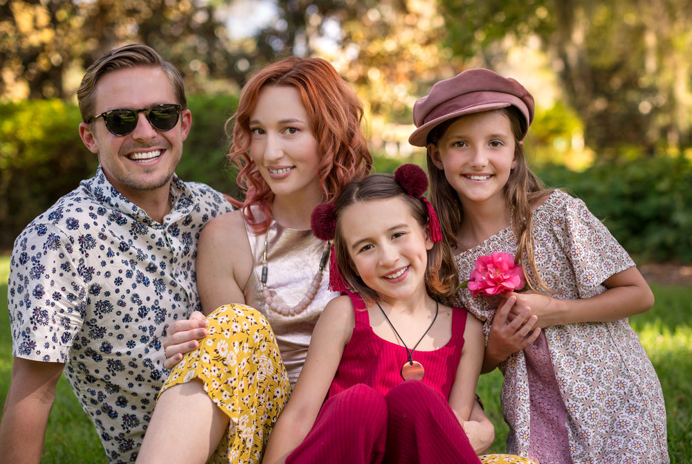Eli (papa bear), Morgan (that's me), Alice, and Jade