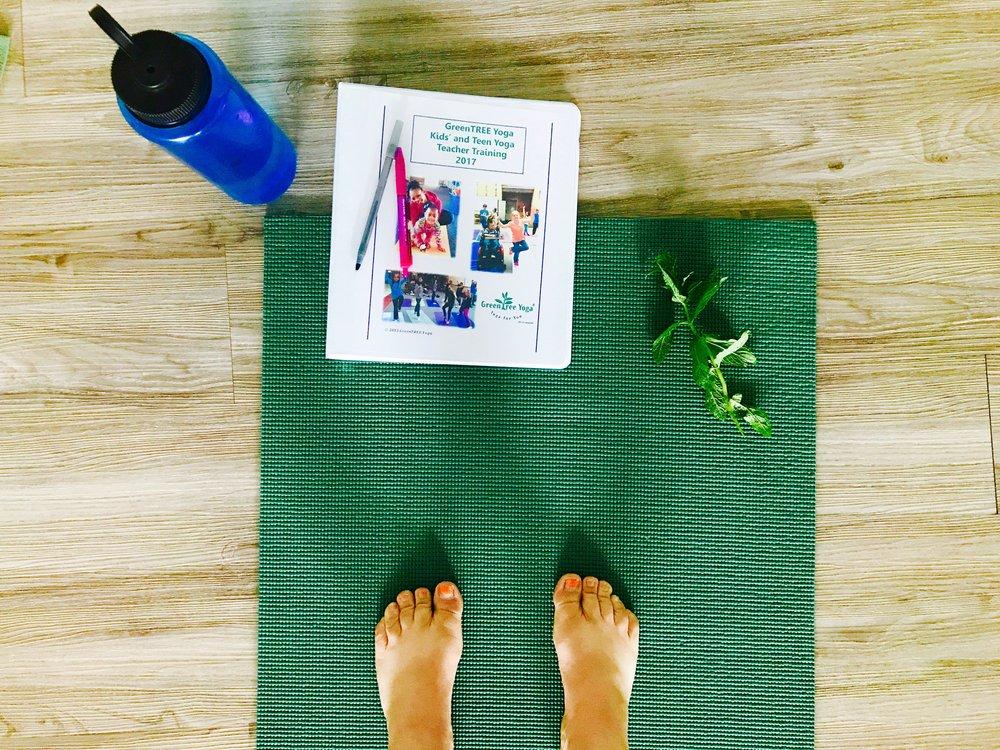 Kid's Yoga Teacher training with Green Tree Yoga.