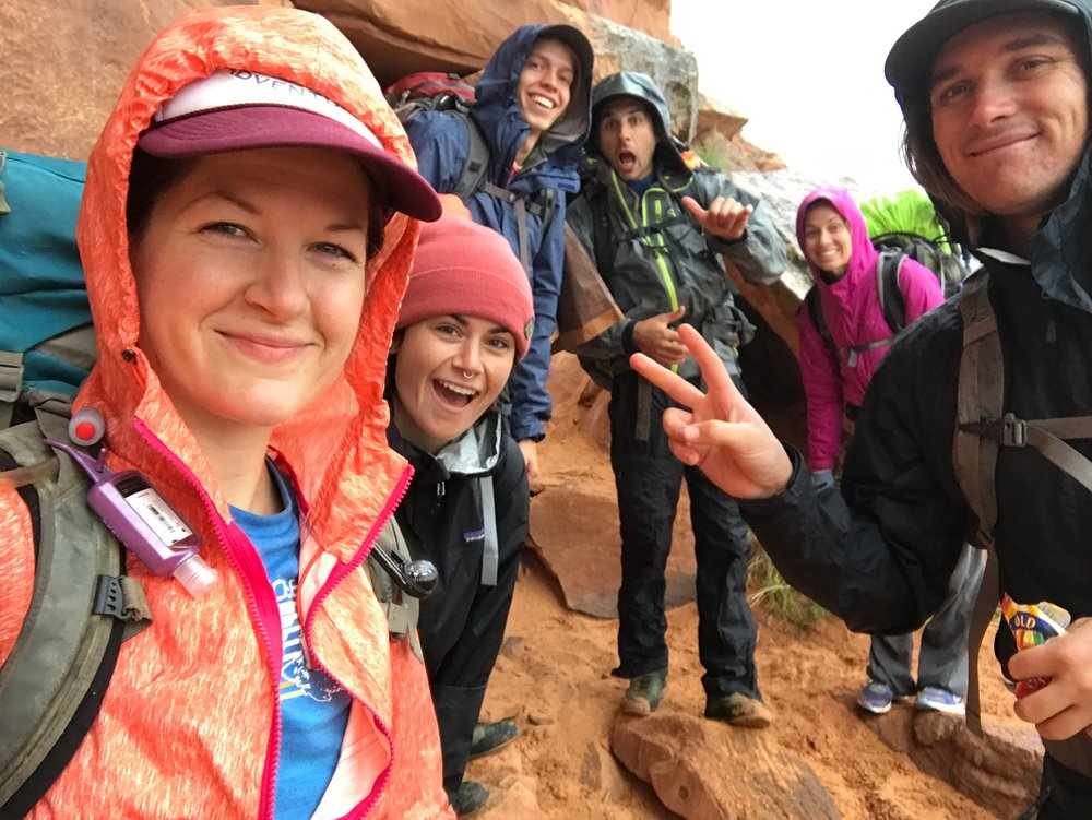 With the Positive Adventures crew, scouting our route before our students arrive!  ( October 2017 )