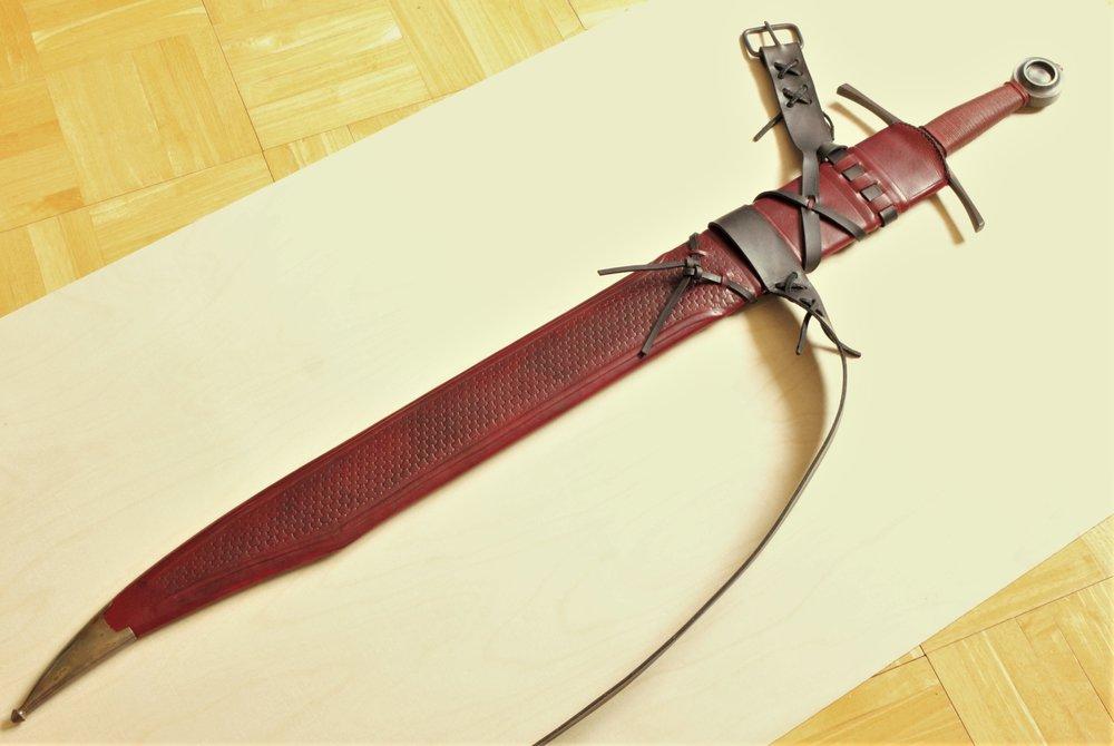 Custom Scabbard For Atrim River Yare Falchion Diamante Swords