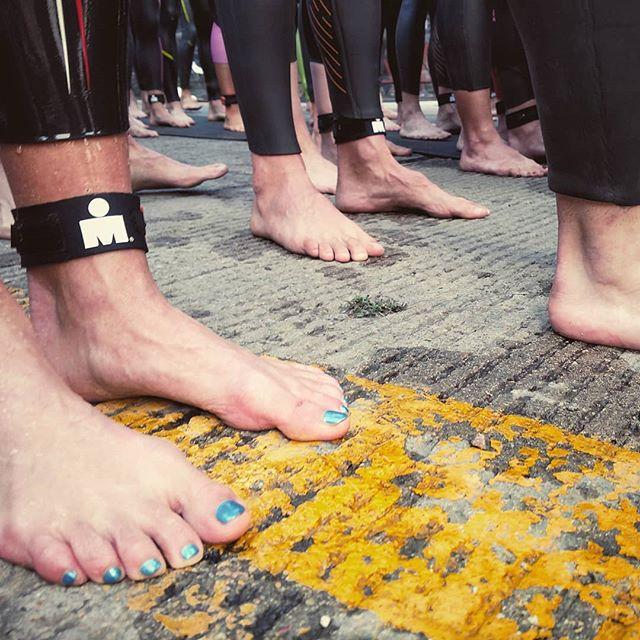 'Tis the season #ironman . . . . . #yellow #color #boulderironman #swimstart #140.6 #ig_color #triatholon #feet #paintedtoenails #colorhunter