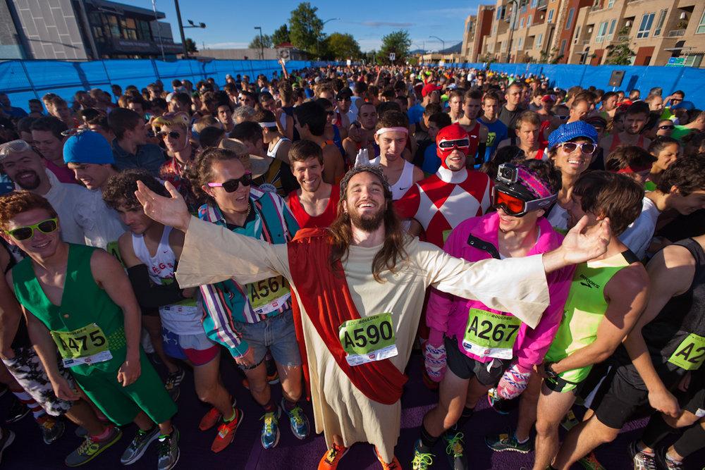 Bolder Boulder 10K - Startline Jesus