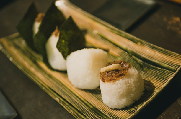 Have your boutique onigiri at this café.