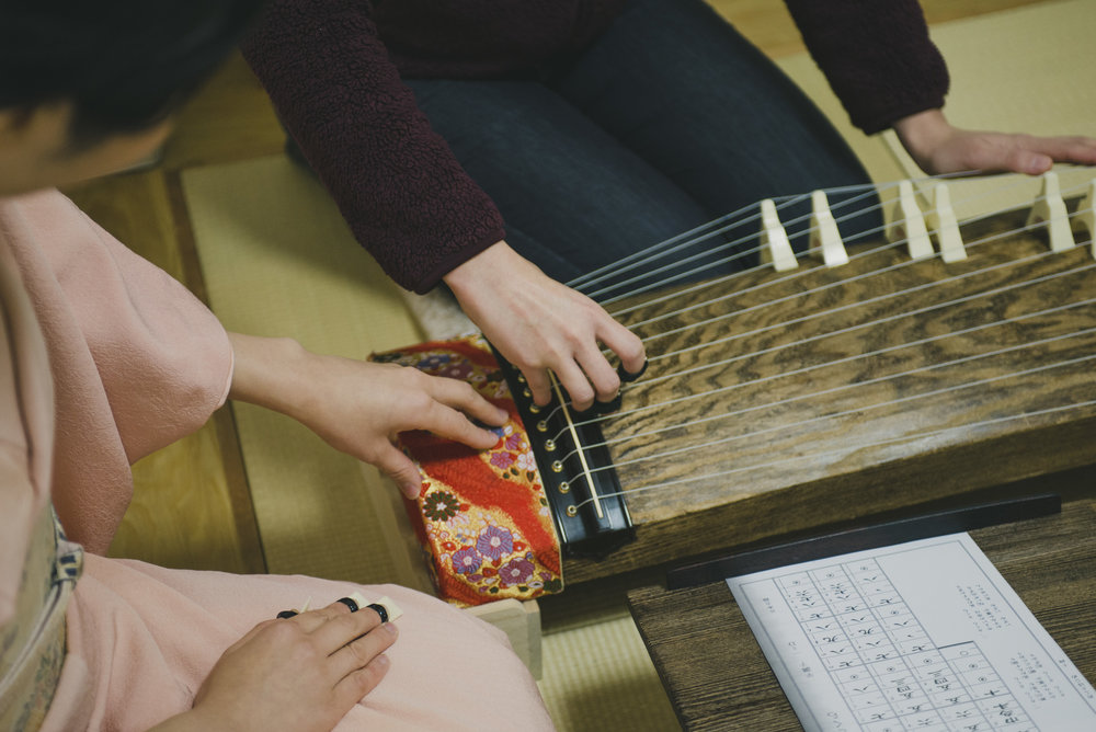 Learn the harmony of the traditional Koto.
