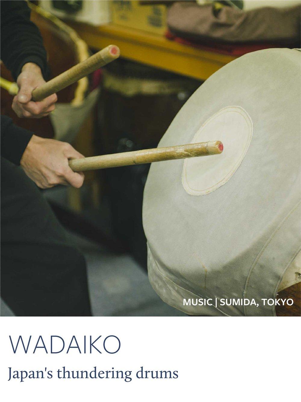 Thundering Wadaiko drums