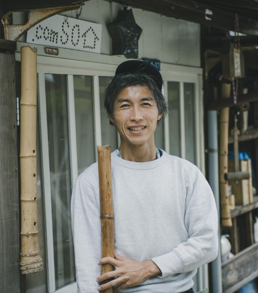 """尺八 Shakuhachi : bamboo flute - """"The sounds of shakuhachi are the sounds of Japan."""" Try your hand at making shakuhachi with our host, Wataru."""
