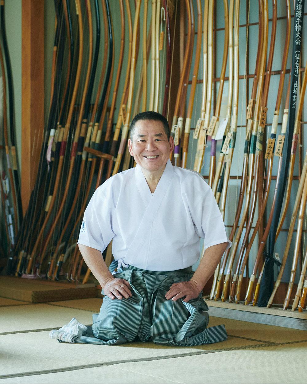 """弓道 : Japanese archery - """"The way of the bow"""", takes great mental and physical strength. Try your hand at kyudo with our host, Hiroshi."""