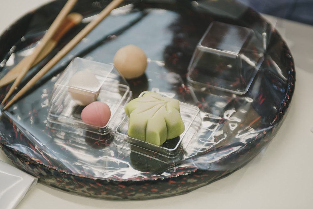 Hand make Japanese sweets almost too beautiful to eat. -