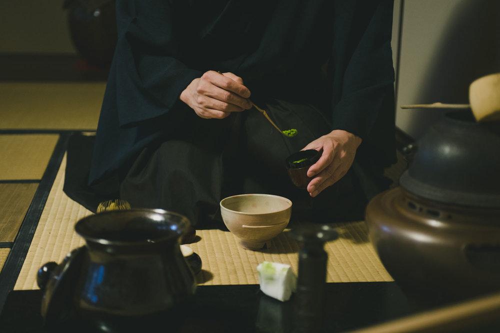 Calm your spirit with the ancient ritual of samurai tea. -