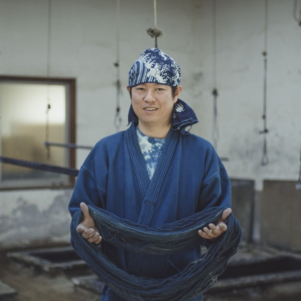 "藍染 Aizome : Japanese indigo dyeing - ""You cannot produce this kind of blue through chemical dyes."" Try your hand at indigo dyeing, with our host, Daigo."