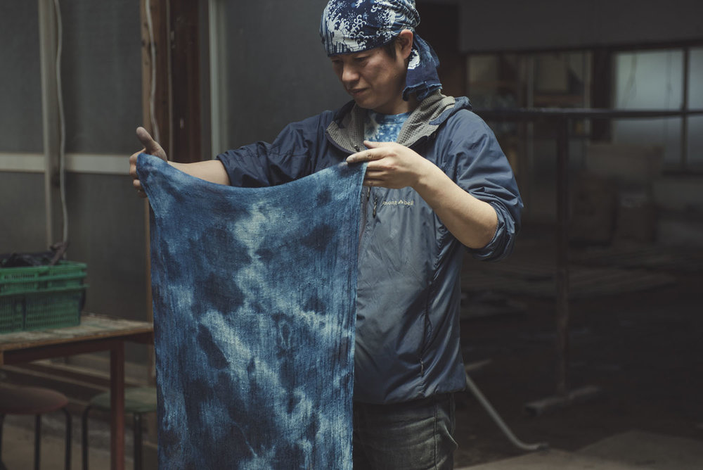 Dye your own garment with Japan's deep indigo. -