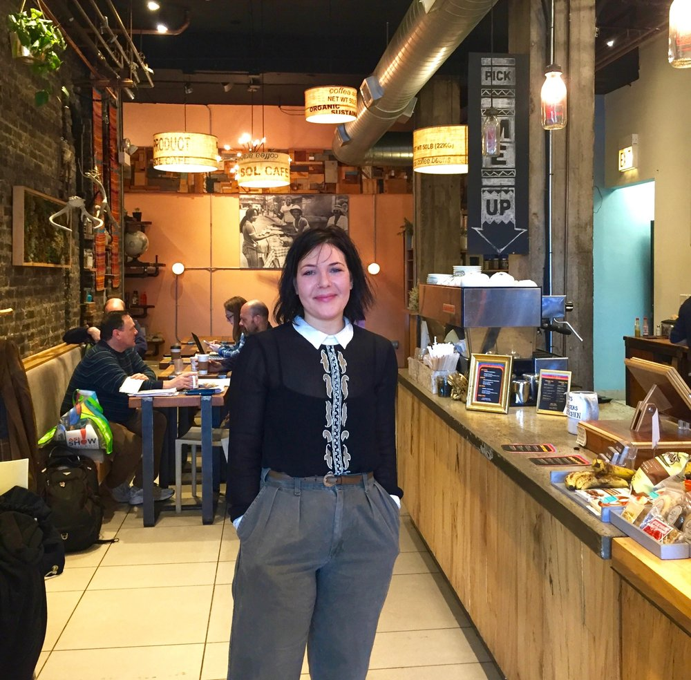 Simone Freeman owner of women-owned business Sol Cafe