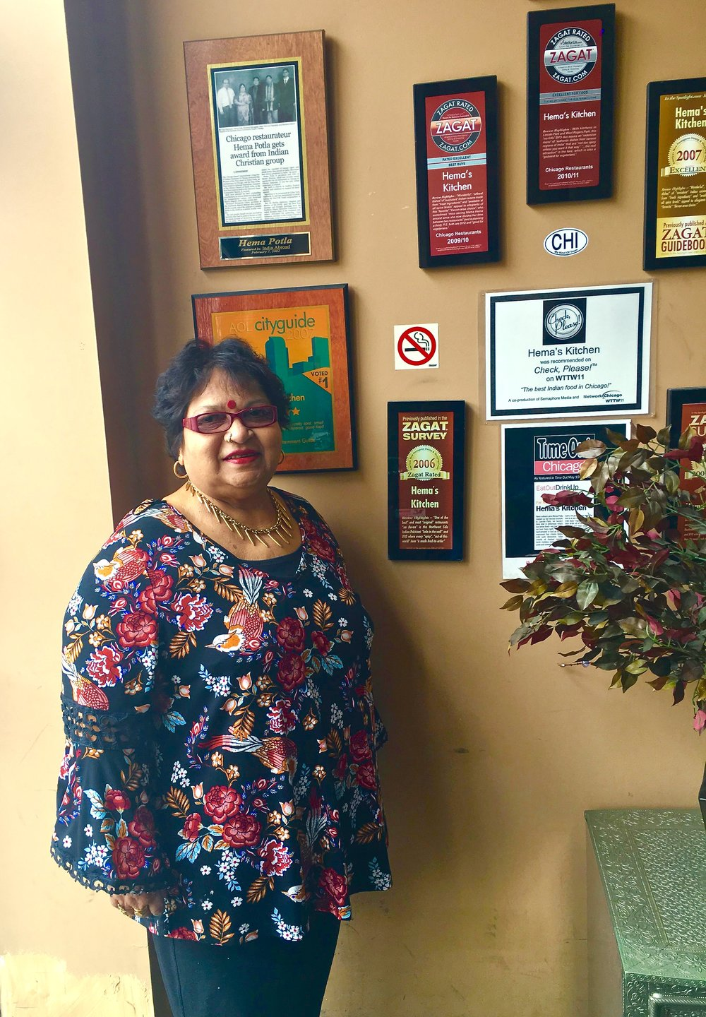 Hema Potla, women owned Indian food restaurant