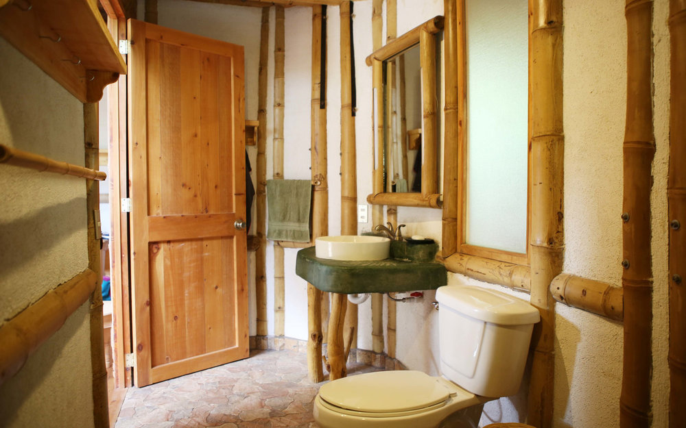 Clean, private bathroom with hot water