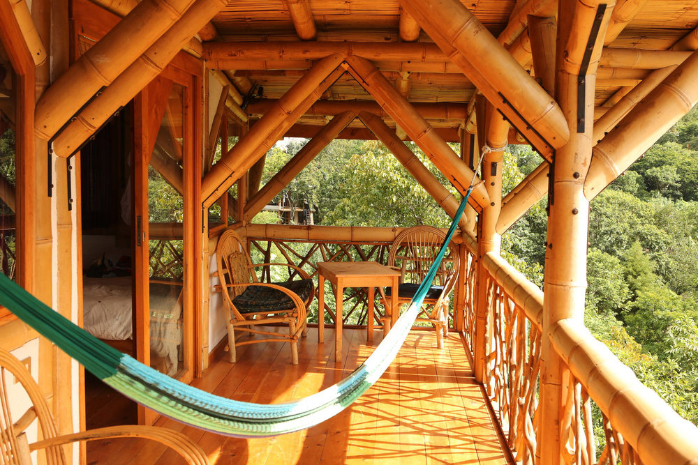 Private balcony with hammock