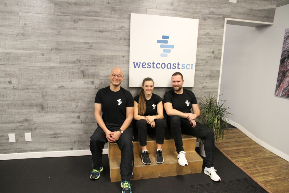 Our Kinesiology Team! Left to Right: Chapmann, Jen, and Andrew