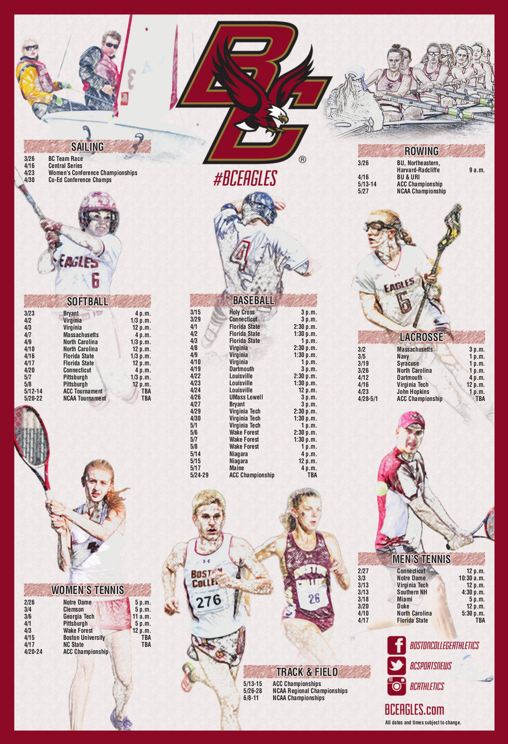 Boston College Sport Poster
