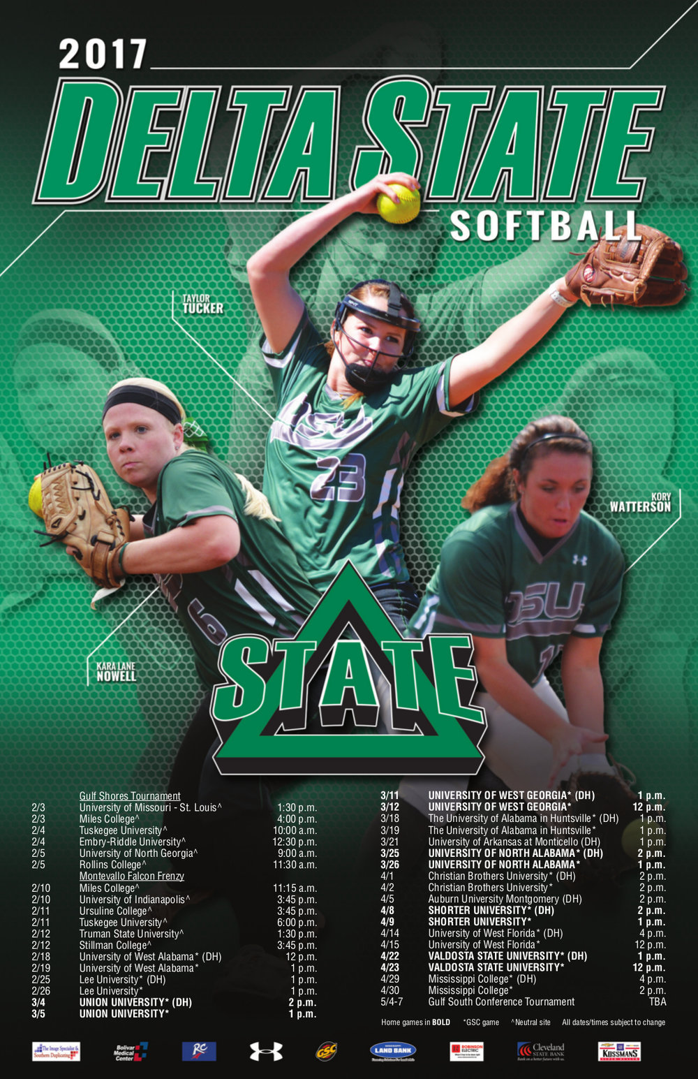 Delta State Softball Sport Poster