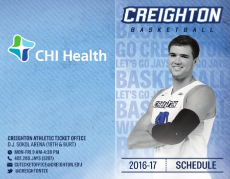 Creighton Sport Schedule Card