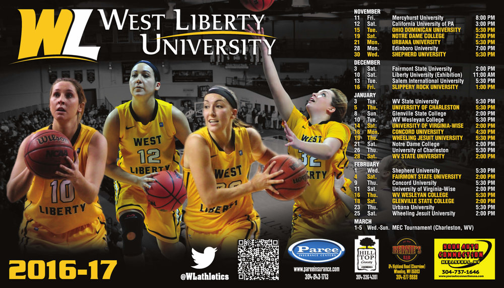 West Liberty Basketball Sport Magnet