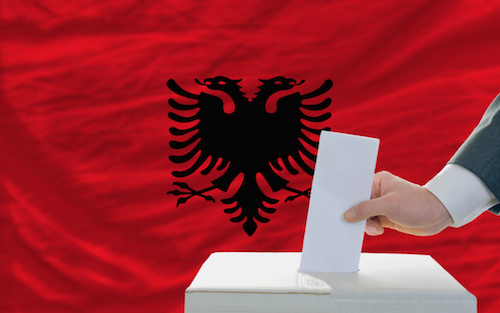 Albanian election image