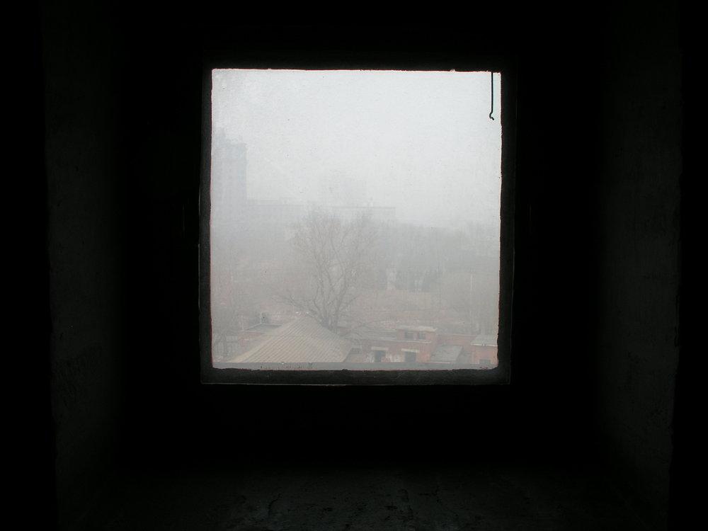 Red Gate window on Beijing pollution, 3pm B.JPG
