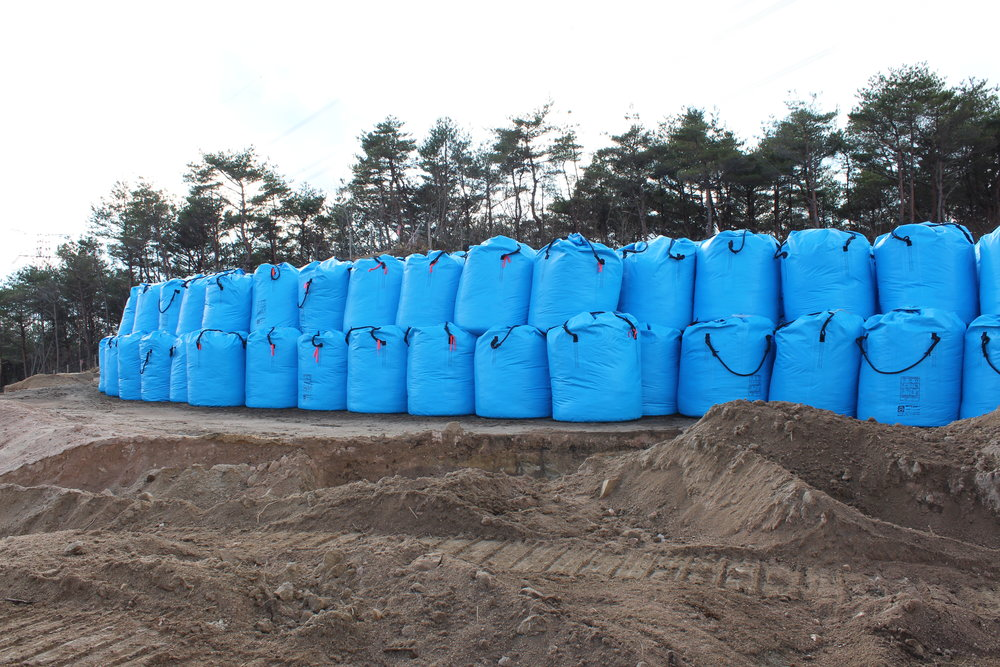 Bags of radioative waste awaiting some final, safe resting place.2.JPG