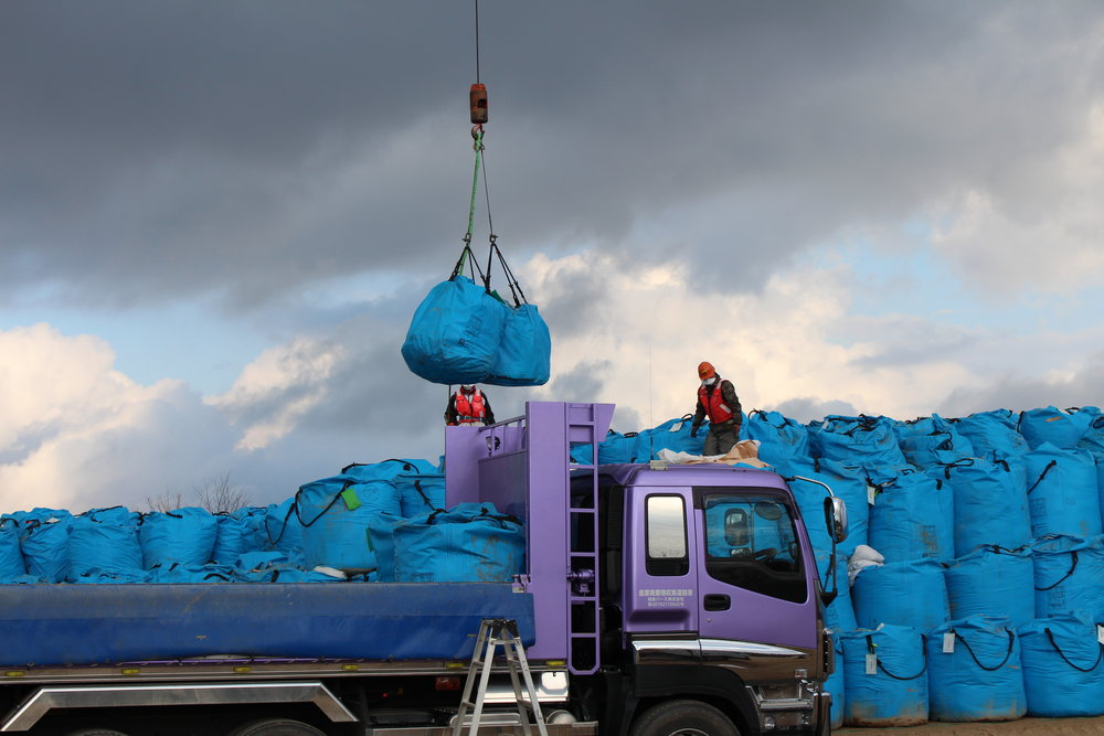 Bags of radioative waste awaiting some final, safe resting place.9.JPG