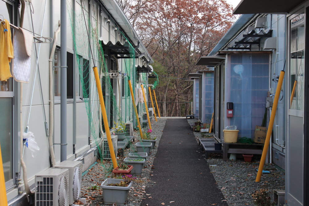 Typical relocation housing for those whose Fukushima homes are deemed overly radioactive.JPG