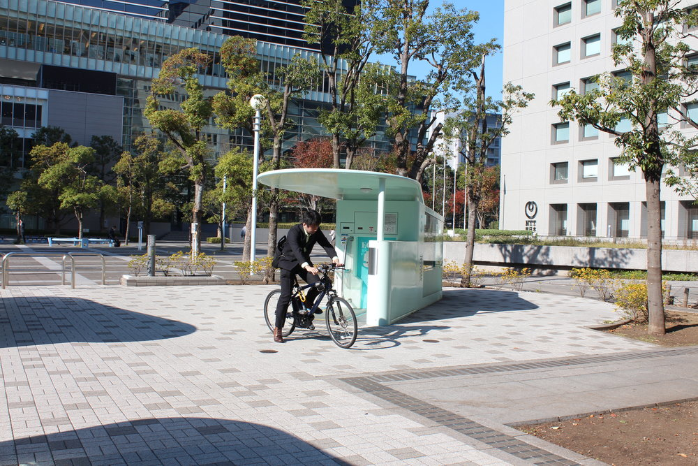 Amazing Tokyo bike parking pulls bike into device and in seconds it's in a secure underground carousel.27.JPG