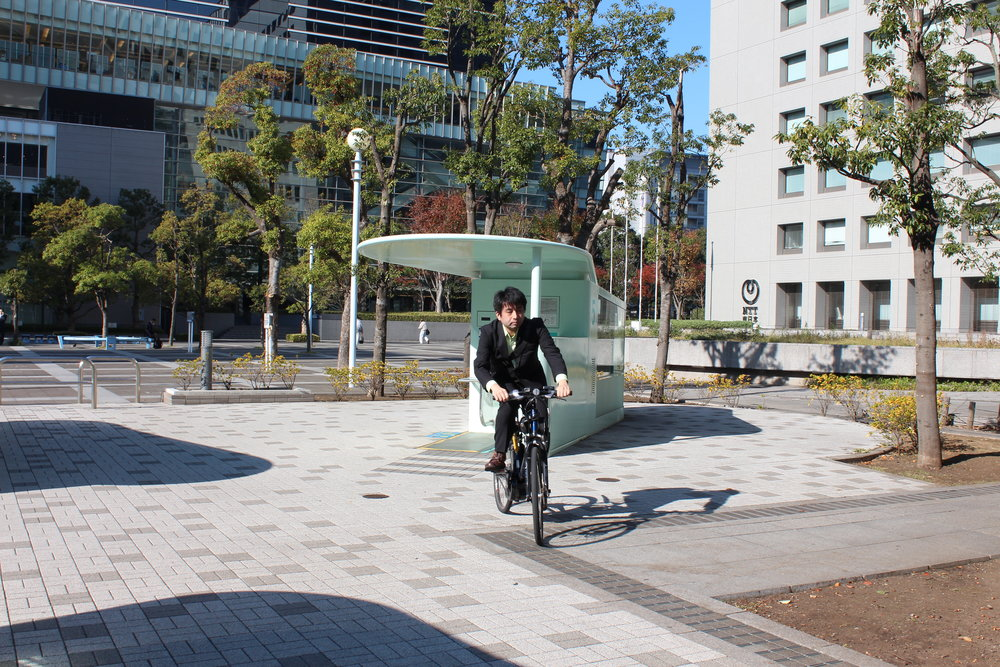 Amazing Tokyo bike parking pulls bike into device and in seconds it's in a secure underground carousel.28.JPG
