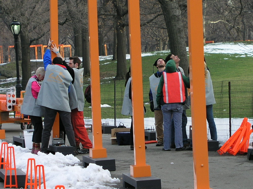 In 2005 100s of volunteers erected Christo Gates in Central Park.1.JPG