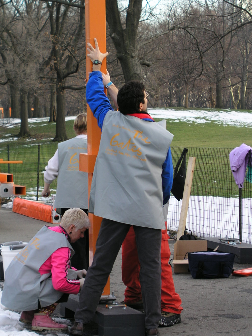 In 2005 100s of volunteers erected Christo Gates in Central Park.3.JPG