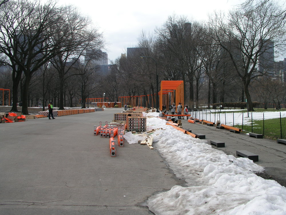 In 2005 100s of volunteers erected Christo Gates in Central Park.5.JPG