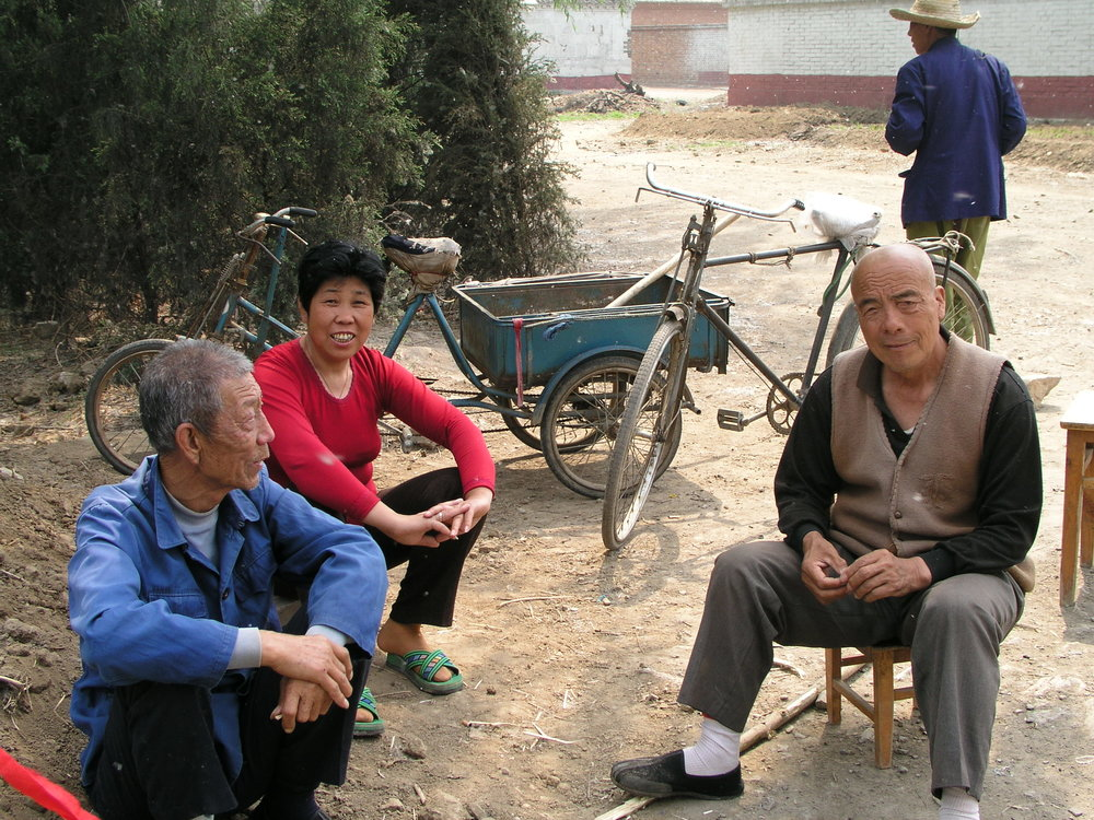 In a village north of Beijing the elders said no outsiders allowed , in hopes of keeping SARS out, even if it hurt their vegetable sales.4.JPG