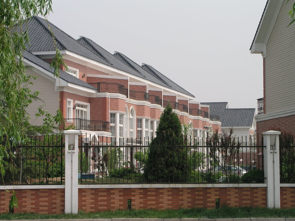 In the wealthy gated commuities of Beijing's super-rich fear kept everyone indoors.JPG