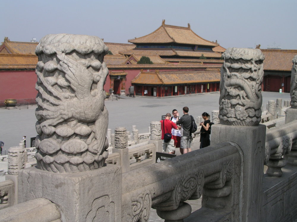 Nearly empty Forbidden City amid SARS.5.JPG