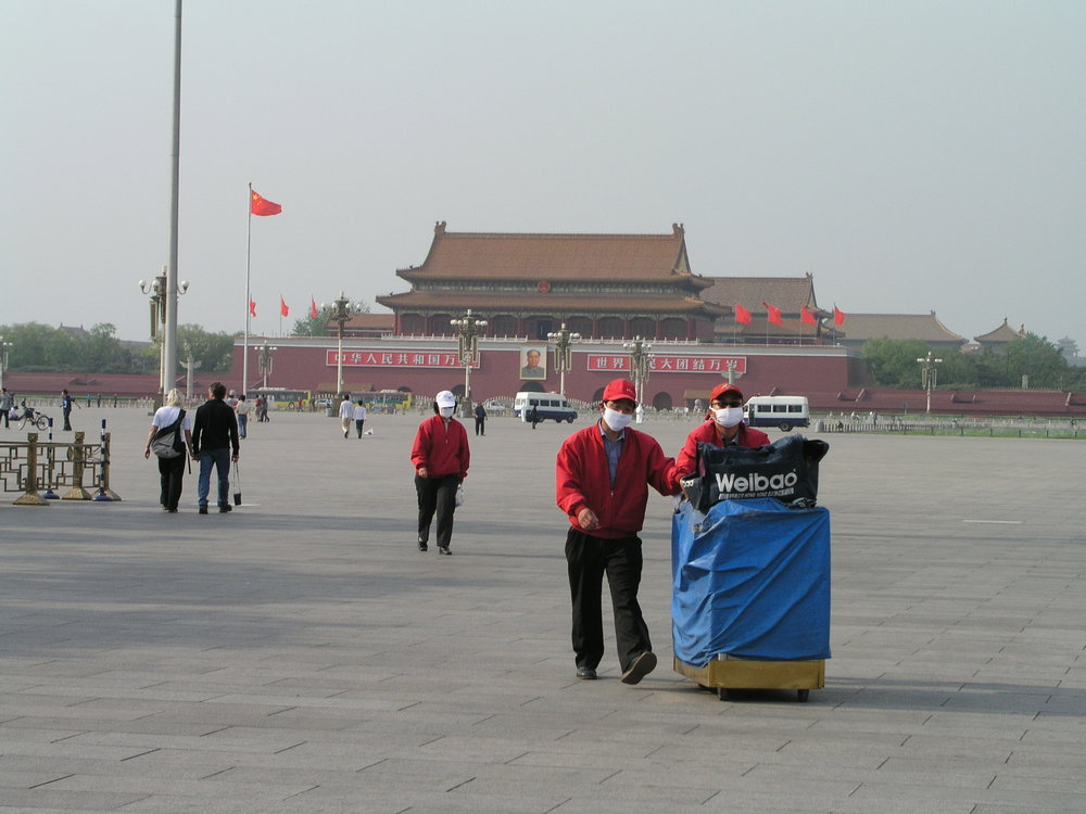 Usually corwded Tianamen Square during SARS.JPG