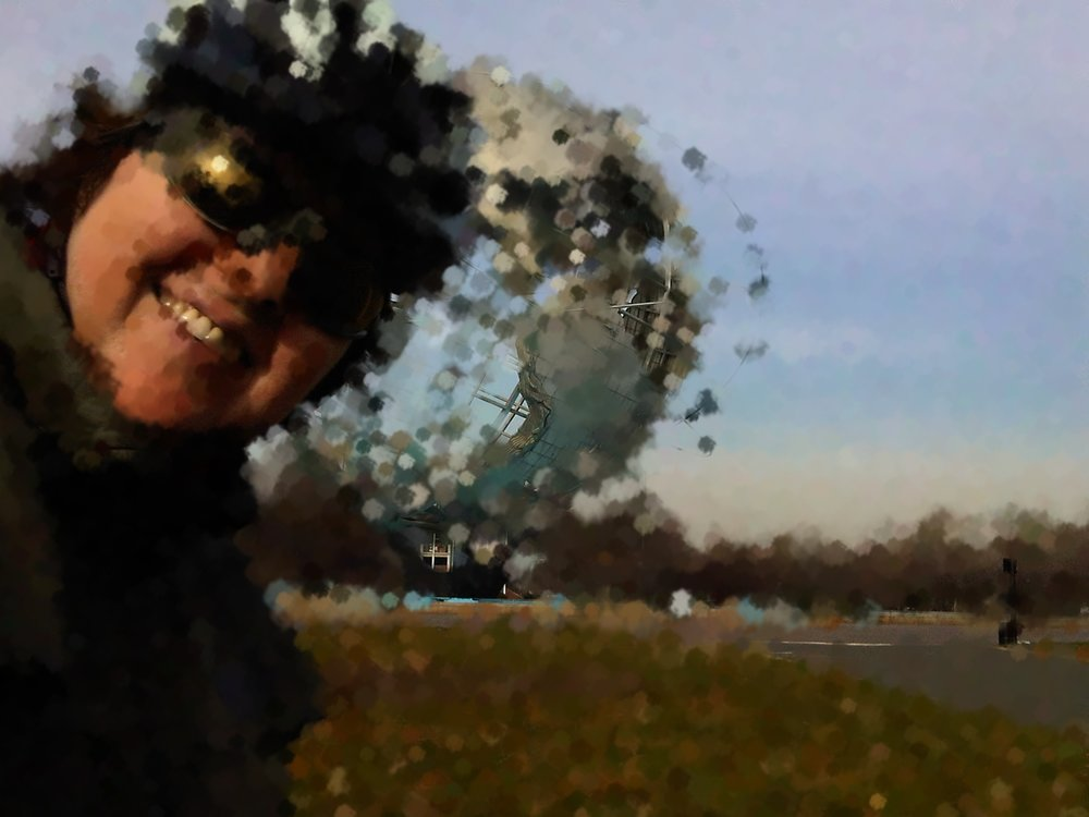 Me on bike at old Worlds Fair site artified.jpg