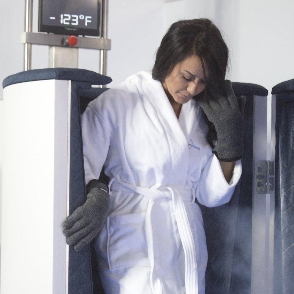 Whole Body Cryotherapy - WBC exposes the body to sub-zero temperatures to cause and anti-inflammatory response throughout the body.