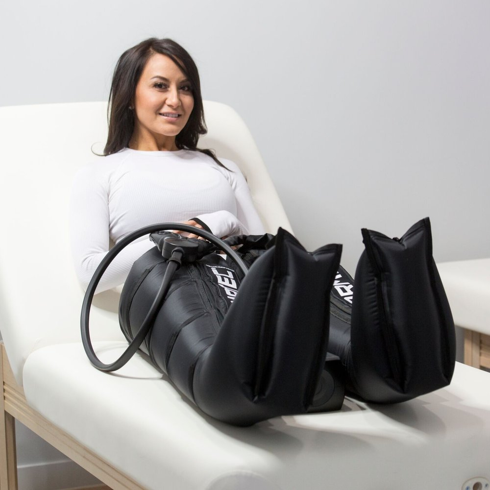 Compression Therapy - Normatec Compression uses patented pulse technology to boost circulation and break up lactic acid.