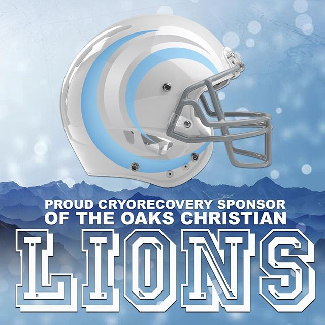 CryoActive is proud to announce that we are the official CryoRecovery sponsors of the Oaks Christian Varsity Football team. We are excited to provide these young and talented athletes with cutting edge athletic recovery services. GO LIONS! ❄️🦁 #cryoactive #oakschristianfootball