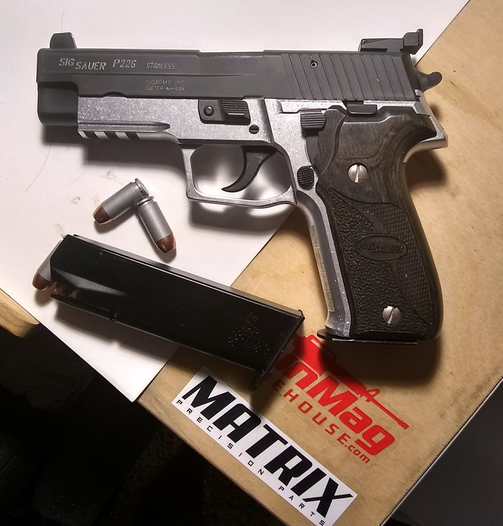 P226 .357 in bare aluminum