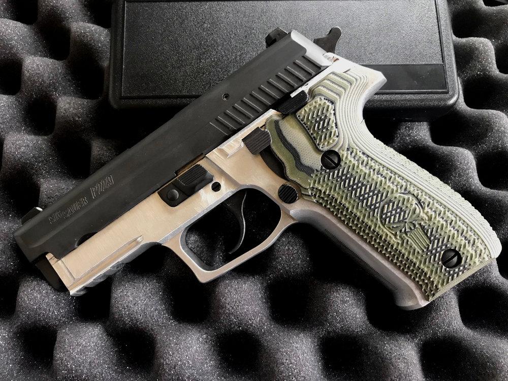 P229 frame bare aluminum