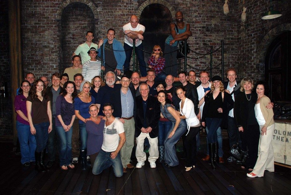 The cast with John Kander and original star, David Hyde Pierce.